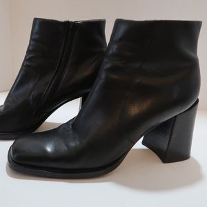 Vintage Baker 90s chunky heel leather boots